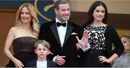 John Travolta and Kelly Preston Hit the Red Carpet With Their Gorgeous Kids in Cannes
