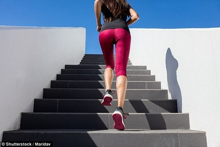 Running upstairs is an example of vigorous physical exercise which can benefit the mind as well as the body and doesn't require a gym membership or expensive equipment.