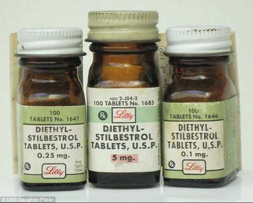 DES was approved by the US Food and Drug Administration in 1941 but it didn't become common until around 1945. Studies cast doubts on it in 1953 but it didn't get banned until 1971