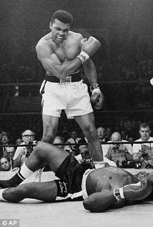 Star boxer Muhammad Ali (pictured in 1965)