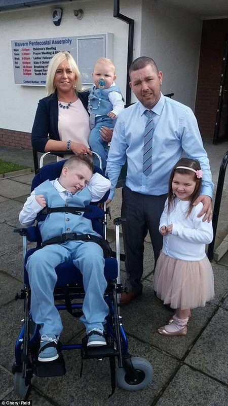 They feared he had just a two per cent chance of making it through, after the keen biker endured a horror crash two years ago (pictured with his brother and sister Brooke and Cole)