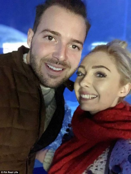 Twenty-three year old Megan (pictured with her husband Jake, 23) was diagnosed with a molar pregnancy after experiencing heavy vaginal bleeding at 10-and-a-half weeks