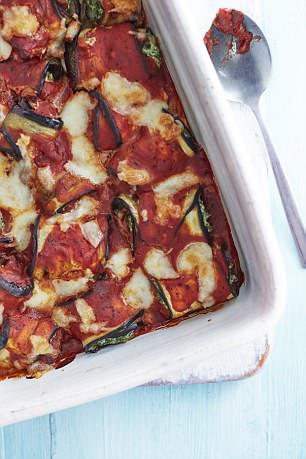 Aubergine lasagna rolls