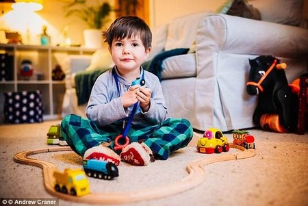 George Young, four, has forgotten his first words as dementia robs him of his childhood