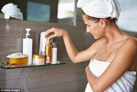 The expert also said that foaming cleansers can be detrimental to the skin as they are essentially 'industrial strength detergents' (stock image)