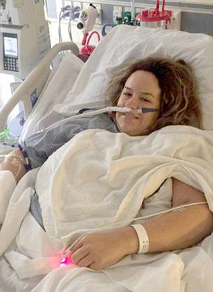 Amy Haller Follis, of Pennsylvania, thought she had the flu when she fell ill while moving house last year with her husband Matthew and their sons James, five, and Luke, three. It turned out to be toxic shock syndrome (TSS) caused by a stray fiber from her tampon, leaving her in the ICU