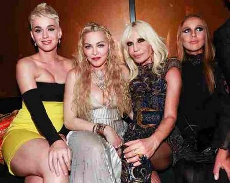 Katy Perry, Madonna, Donatella Versace, Allegra Versace