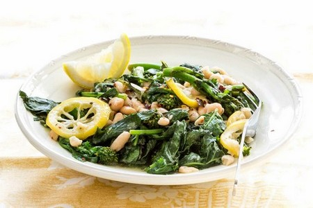 White beans with rapini and white beans