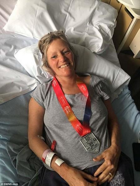 After suffering a seizure at home, her partner performed CPR until an ambulance arrived