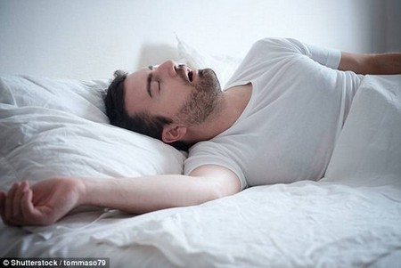 Being a loud snorer may weaken people's skulls, new research suggests (stock)