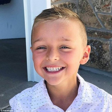 Nixon Whatcott, six (pictured), of Bluffdale, Utah, was diagnosed with osteosarcoma, the most common form of bone cancer