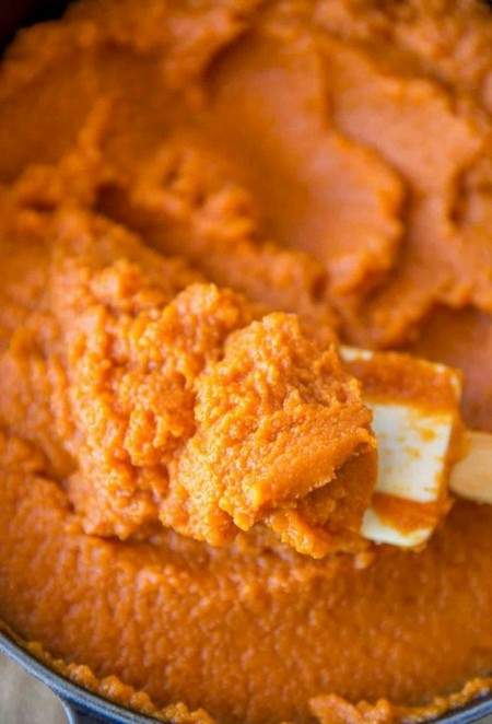 The easiest pumpkin puree by either steaming, baking or boiling pumpkin.