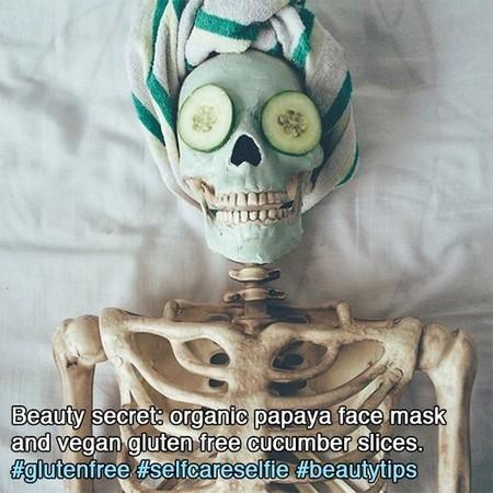 Skeleton mocks girls Instagram photos and it's spot on
