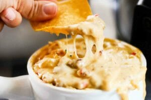 Slow Cooker Brats and Beer Cheese Dip