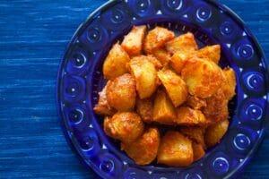Spanish Roasted Potatoes with Tomato Sauce (Patatas Bravas)
