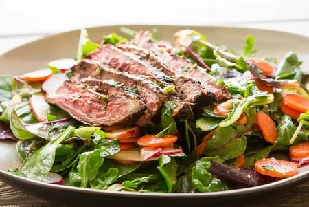 Steak Salad with Miso Vinaigrette