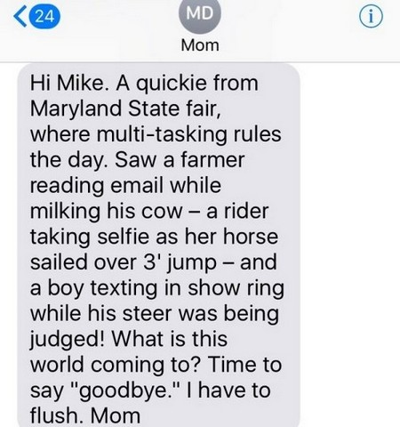 Texts from Mike Rowe's mom will put a smile on your face