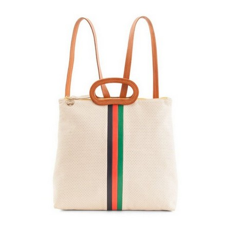 Clare V. Marcelle Backpack Desert Stripe, $399, available at Cash And Clive.