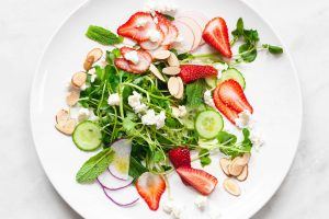 Watercress Salad with Strawberries and Feta