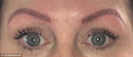Raw deal: A Detroit woman known as Jennifer revealed howa discount microblading deal turned into a nightmare that landed her in hospital for three days