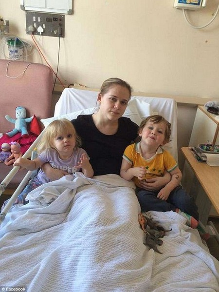 Ms Ingram (pictured with her children) has passed out from the pain of her disorder