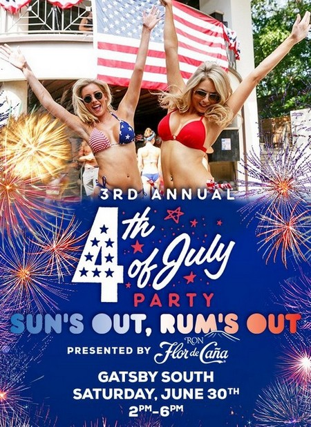 Active Duty and Veterans, win tickets to 4th of July Party at Gatsby South
