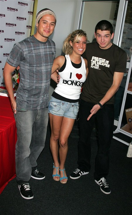 "Stephen ""Steph-EEEN"" Colletti, Cavallari and Talan ""ta-LAN"" Torriero at a Bongo Jeans at Kohl's Orange County store appearance in 2006. Photo: David Livingston/"