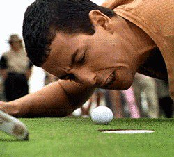 Pro golfer pulls a Happy Gilmore when he needs a caddie