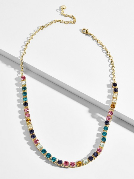 BaubleBar Nova tennis necklace, $58, available here.