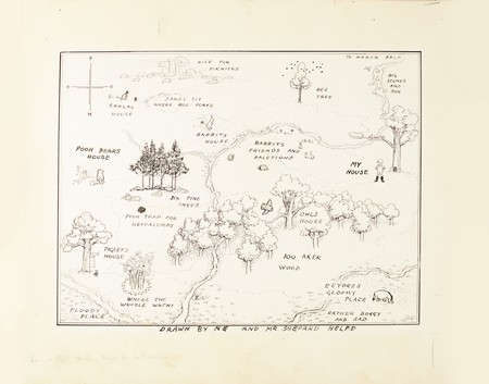Winnie the Pooh Map Illustration Sets a Major New Auction Record at Sotheby's