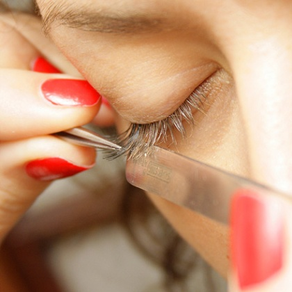 Flap your eyelashes and take off