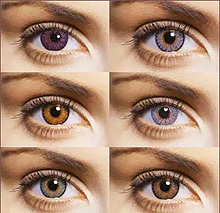 Wearing color lenses without indications causes caution in doctors