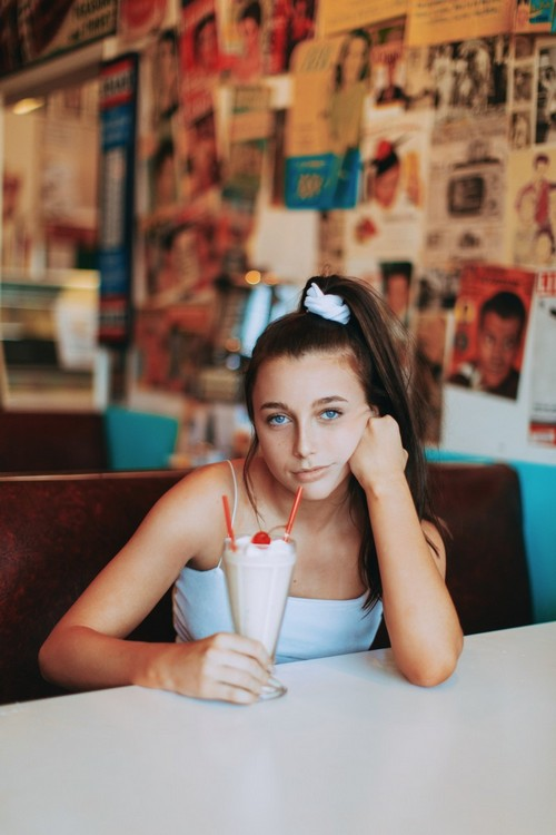 Emma Chamberlain in High Key. Photo:Andre Nguyen