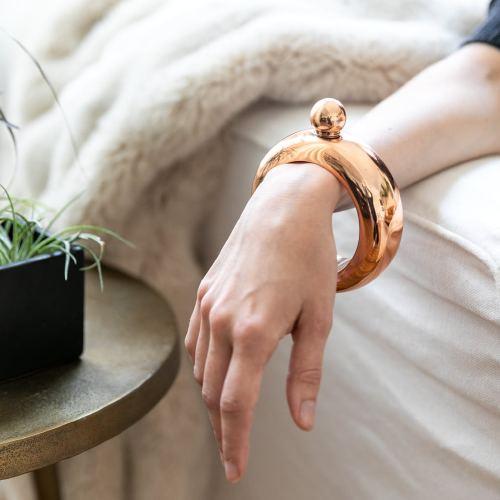 Rose Gold Bracelet Flask, $13
