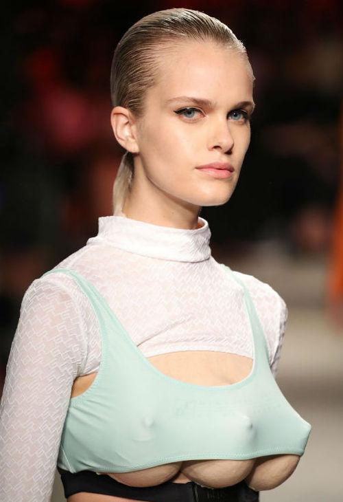 Models With Three Breasts Make Appearance At Milan Fashion Week