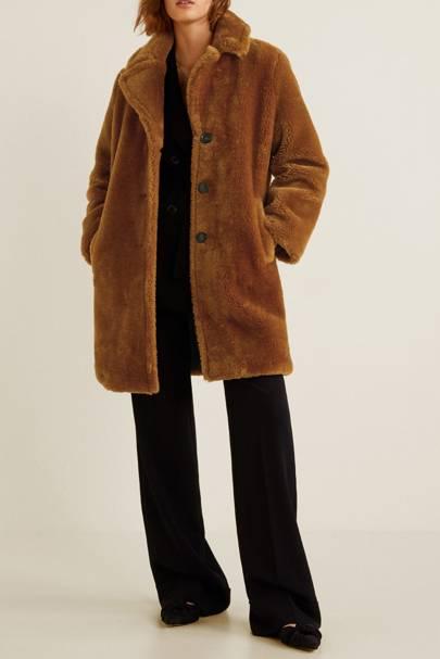 Mango Faux Fur Coat - £69.99