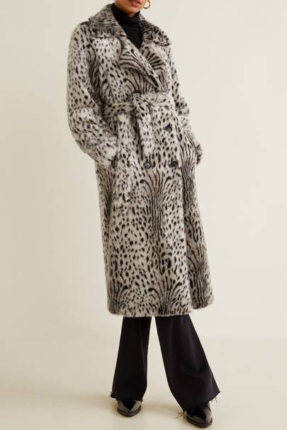 Mango Leopard Faux-Fur Coat £139.99