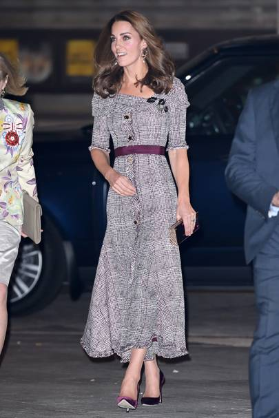 Kate Middleton was back to her sartorial best in this Erdem tweed midi dress