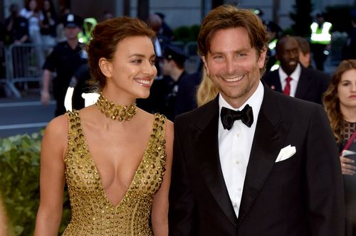 NEW YORK, NY - MAY 07: Irina Shayk (L) and Bradley Cooper attend the Heavenly Bodies: Fashion & The Catholic Imagination Costume Institute Gala at The Metropolitan Museum of Art on May 7, 2018 in New York City. (Photo by John Shearer/Getty Images for The Hollywood Reporter)