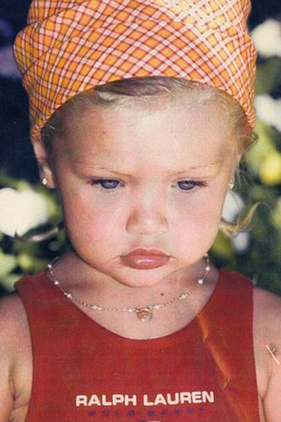 Okay, so these supermodels were the cutest kids EVER