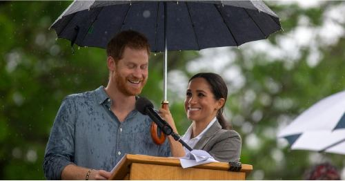 Rain or Shine, Meghan Markle Has Prince Harry's Back As He Delivers a Powerful Speech
