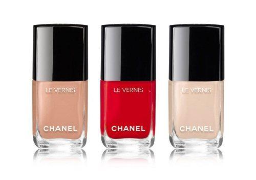 Лаки для ногтей Le Vernis, 556 Beige, 548 Blanc, 546 Rouge, Chanel