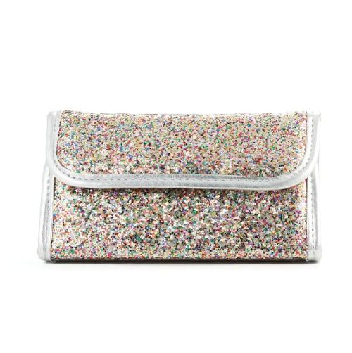 Simple Pleasures Multicolor Glitter Cosmetic Travel Set