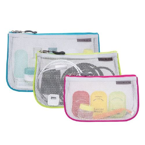 Travelon Zippered Mesh Pouches