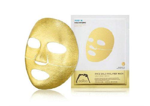 Золотая Фольга Face Gold Foilayer Mask, The Oozoo