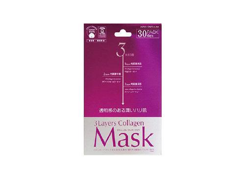 Тканевые маски для лица 3 Layers Collagen Mask, Japan Gals