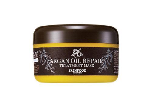 Восстанавливающая маска с аргановым маслом Argan Oil Silk Hair Mask Pack, Skinfood