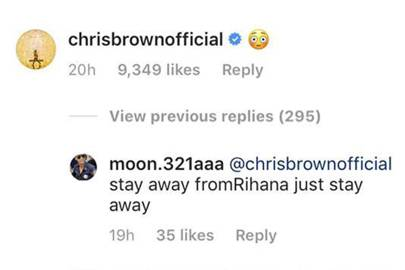 Chris Brown commented on Rihanna's underwear picture and her fans aren't happy