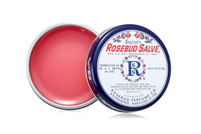 Smith's Rosebud Salve, £8, Rosebud Perfume Co