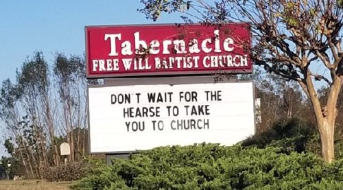 These church signs really… nailed it
